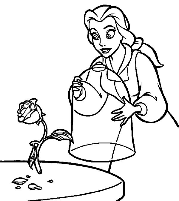 Belle disney coloring pages