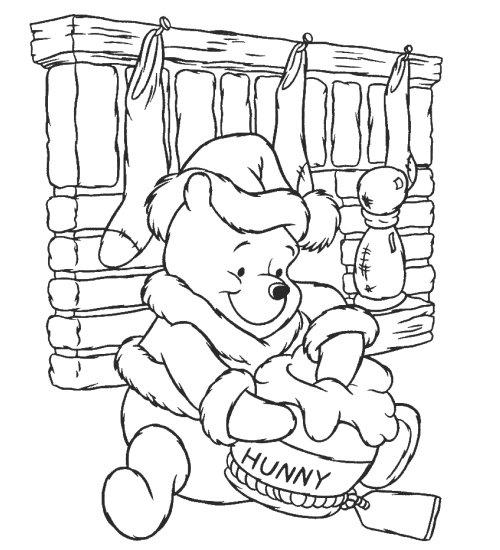Christmas Winnie Pooh Color