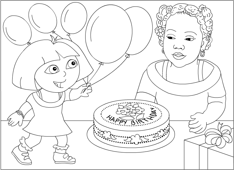 Dora coloring pages - Disney Coloring Pages