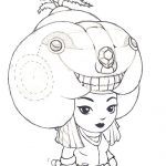 Girl with Hat Coloring page