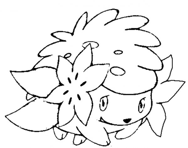 POKEMON SHAYMIN COLORING PAGE