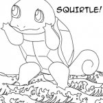 Pokemon coloring page of Squirtle