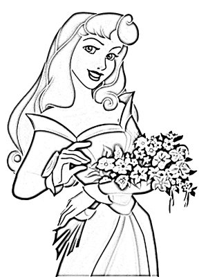Princess Aurora Disney coloring pages