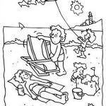 Beach Holiday Coloring Pages