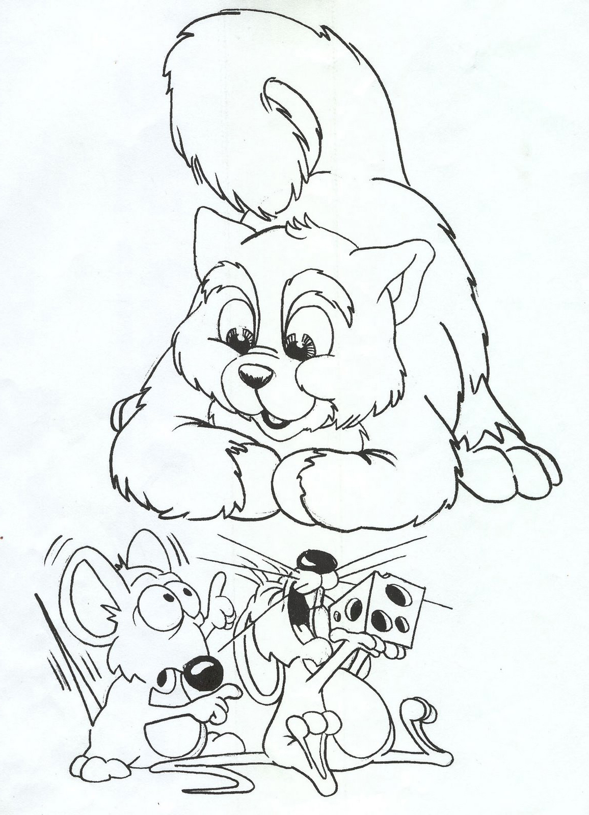 Cat Mice Coloring Pages