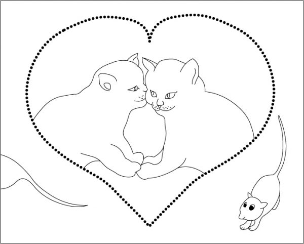 Cat Mouse Coloring Pages