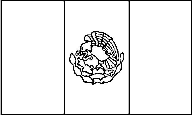 Mexico Flags Coloring Pages