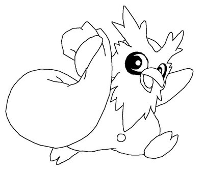 Delbird Pokemon Coloring Pages