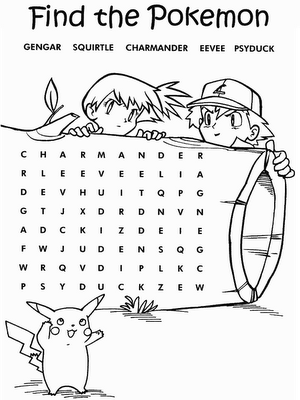 find the pokemon coloring pages