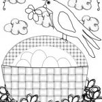 Little birdy coloring page