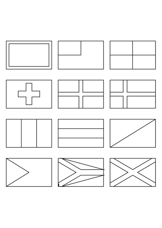 National Flags coloring pages