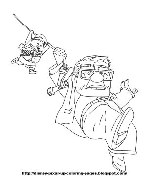Pixar UP Coloring page