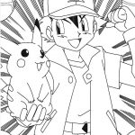 Pokemon ash pikachu coloring pages