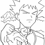Pokemon brock coloring pages