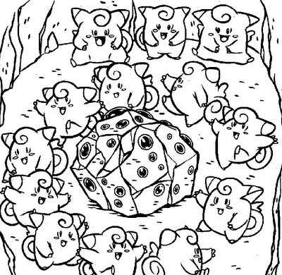 Pokemon clefairy coloring pages