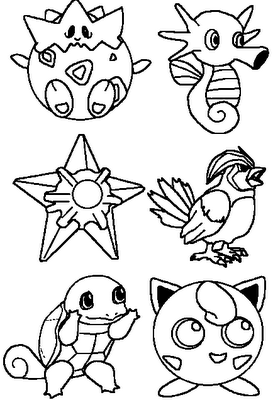 Pokemon Disney COLORING PAGE