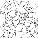Pokemon kadabra coloring pages