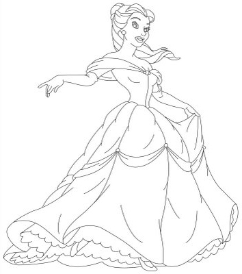 Princess coloring pages Belle