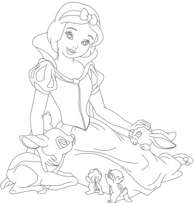 Princess coloring pages snow white