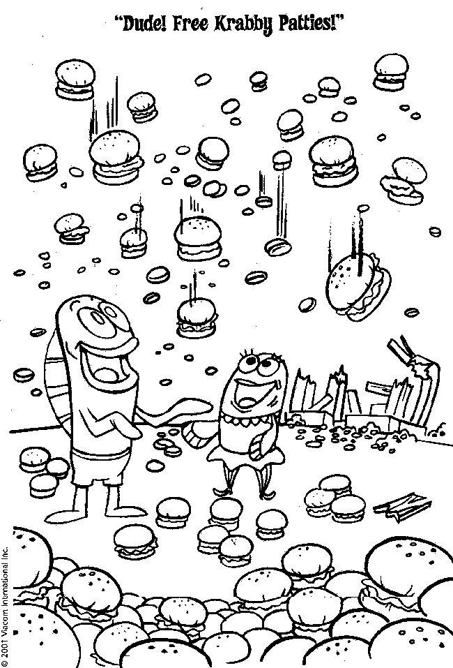 Spongebobs coloring pages