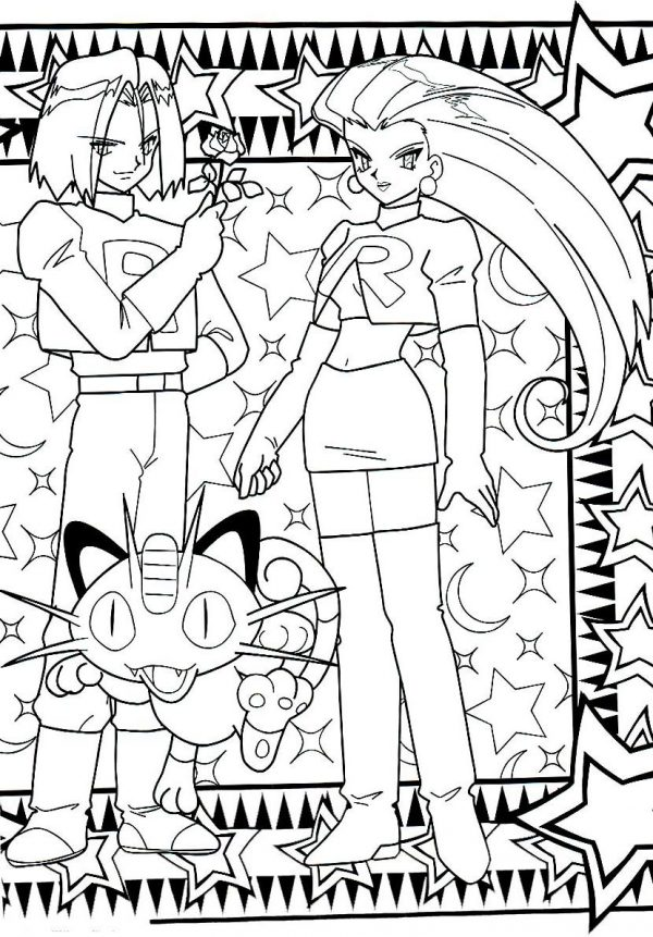 Teamrocket pokemon coloringpage