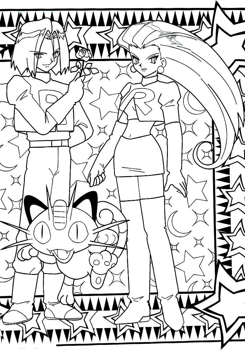 Teamrocket pokemon coloringpage