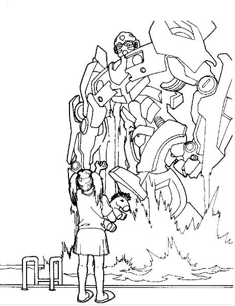 Tranformers coloring pages