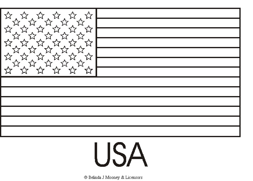USA Coloring Flag pages