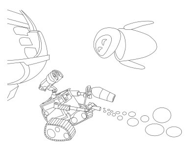 Wall E Eve coloring page