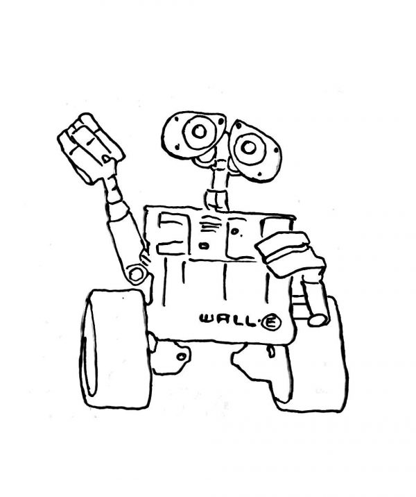 Wall-e coloring pages